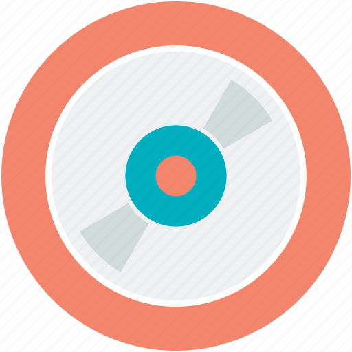 cd, compact disk, disc, disk, music icon
