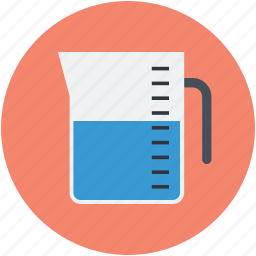 chemical, experiment, laboratory equipment, measuring, measuring jug icon