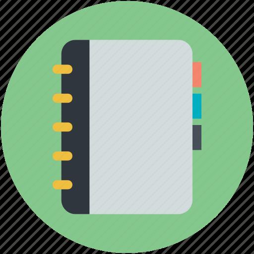 diary, notepad, notes, records, steno pad icon