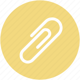 attachment, clinch, office supplies, paperclip, stationery icon