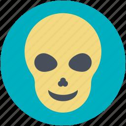 dead, halloween, horror, human skull, noggin icon