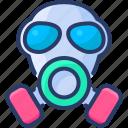 bio, gas, hazard, mask, poison, pollution
