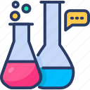 chemistry, experimint, flask, lab, laboratory