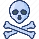 anatomy, bones, death, halloween, poison, skull icon