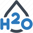 formula, h2o, water icon