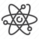 atom, medical, molecule, physics, proton, science icon