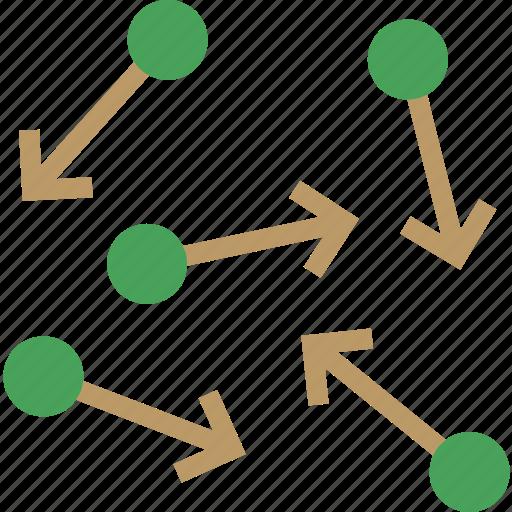 arrows, movement, particle icon