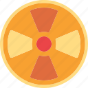 danger, laboratory, radiation, sign icon