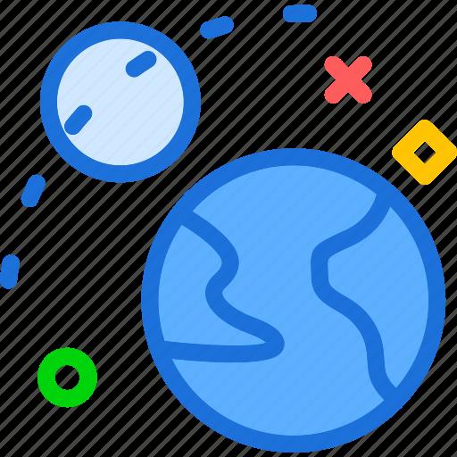 moon, planet, universerevolution icon