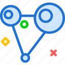 atoms, bound, collision, network icon