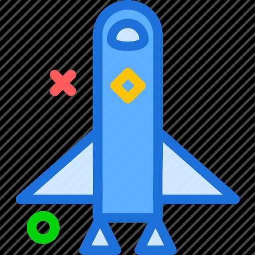 rocket, ship, space, travel icon