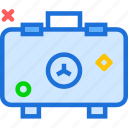 container, danger, laboratory, radiation icon