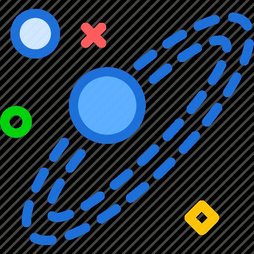 galaxy, movement, planet, solar icon
