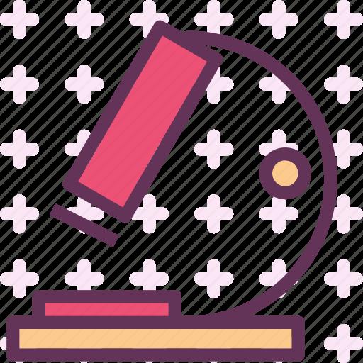 microscope, observe, research icon
