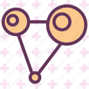 atoms, bound, collision, network icon