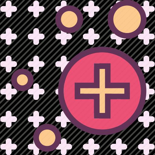 medicalcrosscircles, spread, structure icon