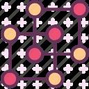 graphic, square, structure, system icon