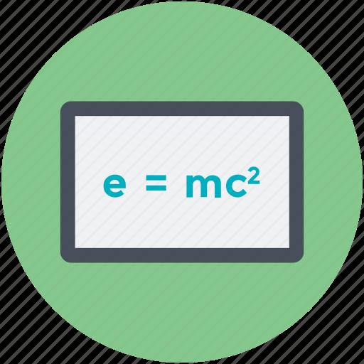 emc2, equivalence, physics, science, scientific formula icon