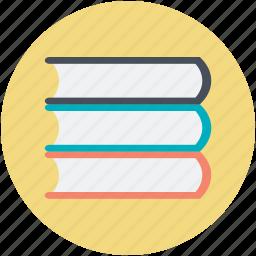 books, books collection, books record, books stack, literature icon