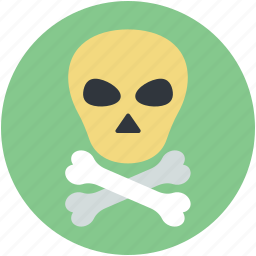 danger, dead, hazard, skull, toxic icon