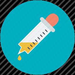 dropper, glass, laboratory, pipette, test tube icon