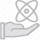 atom, give, laboratory, research, science icon