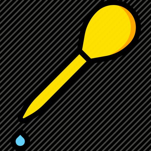 dropper, laboratory, research, science icon
