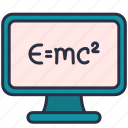 computer, education, einstein, formula, physician, science, theory icon