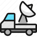 space, truck, satelite