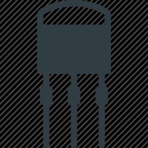 electronics, science, transistor icon