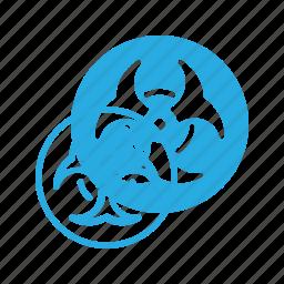 bio, biohazzard, hazzard, science icon