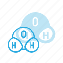 chemistry, h2o, molecule, science, structure, water icon