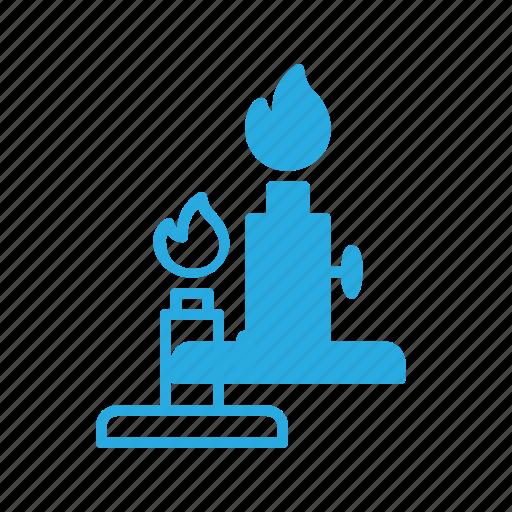 flame, lab, laboratory, light, science icon