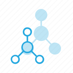 atom, molecule, science, structure icon