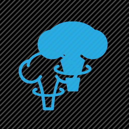 atomic, bomb, cloud, mushroom, science icon