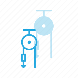 graviti, pull, pulley, science icon