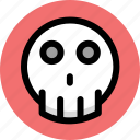 danger, dead, skull icon