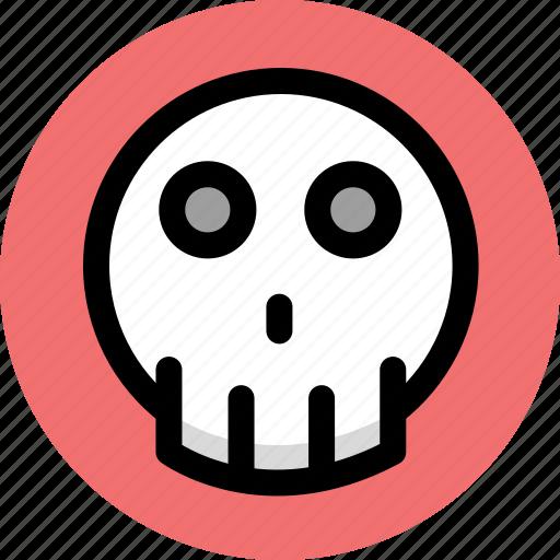 danger, dead, skull icon