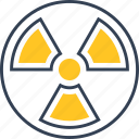 danger, radiation, science icon