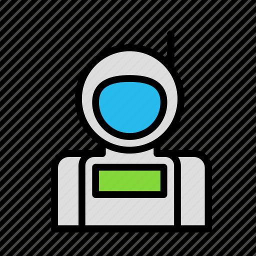 astronaut, cosmonaut, science, space icon
