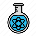 atom, experiment, science, space icon