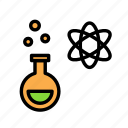 atom, potion, science, space icon