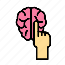 brain, science, space, touch icon