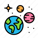 andplanet, earth, s, science, space icon