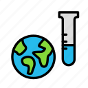 earth, potion, science, space icon