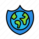 earth, safety, science, space icon