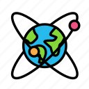 earth, satellite, scienceal, sign, space icon