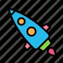rocket, science, ship, space icon