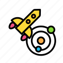 rocket, science, ship, space icon