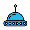 science, space, ufo icon